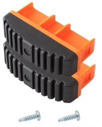 MONTO Fußstopfen (Paar) 97x25 mm, orange