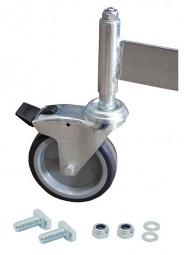Fahrrolle gebremst 125 mm Durchmesser für PodestLeiter 3-4 Stufen