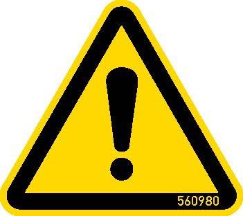 HWS Warnschild Gefahrenstelle 50 mm