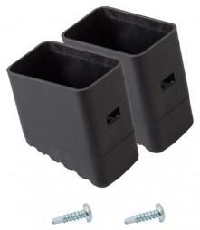 MONTO Fußkappe (Paar) 33x20 mm, schwarz