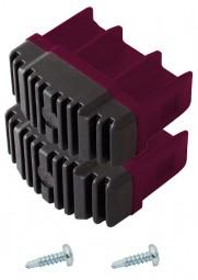 CORDA Fußstopfen  64 x 25 mm, violett