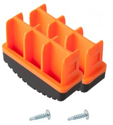 MONTO Fußstopfen (Paar) 77x25 mm, orange