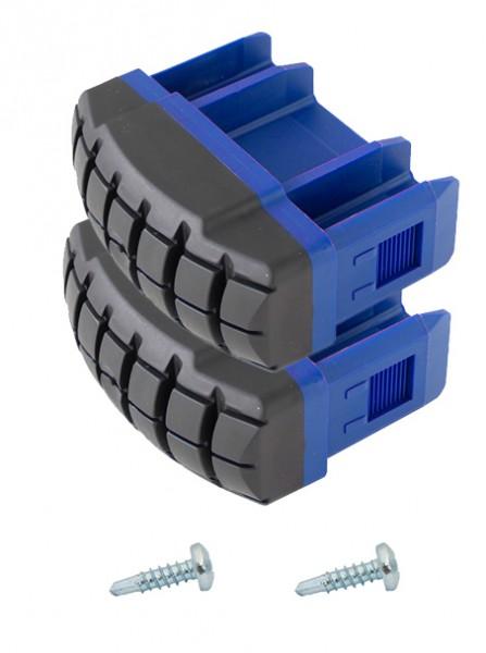 STABILO Fußstopfen für Gelenk-TeleskopLeiter mit 4 Holmverlängerungen und PodestLeitern (Paar), blau