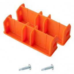 MONTO Kopfstopfen (Paar) 97x25 mm, orange