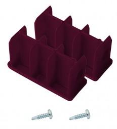 CORDA Kopfstopfen (Paar) 64 x 25  mm, violett