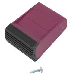 CORDA Traversenfußkappe 50x20 mm, violett