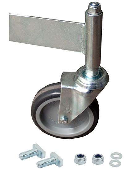 Fahrrolle ungebremst 125 mm Durchmesser für PodestLeiter 8 Stufen