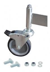 Fahrrolle gebremst 125 mm Durchmesser für PodestLeiter 8 Stufen
