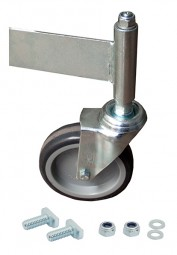 Fahrrolle ungebremst 125 mm Durchmesser für PodestLeiter 7 Stufen