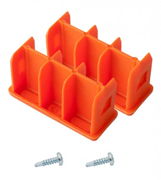 MONTO Kopfstopfen (Paar) 64x25 mm, orange