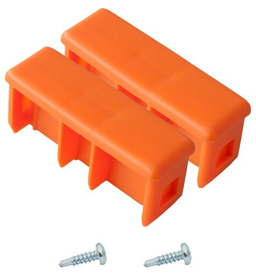 MONTO Kopfstopfen (Paar) 77x25 mm, orange