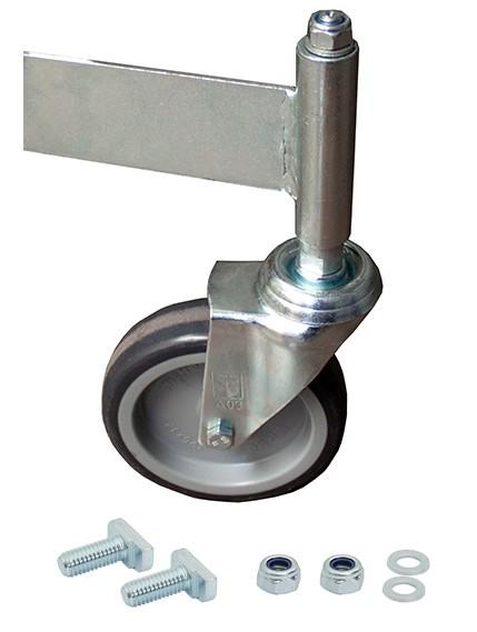 Fahrrolle ungebremst 125 mm Durchmesser für PodestLeiter 3-4 Stufen