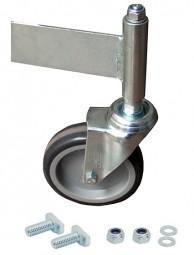 Fahrrolle ungebremst 125 mm Durchmesser für PodestLeiter 5-6 Stufen