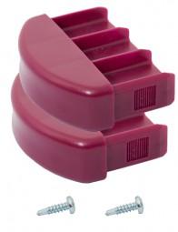 CORDA Kopfstopfen (Paar) 71,5 x 20 mm, violett