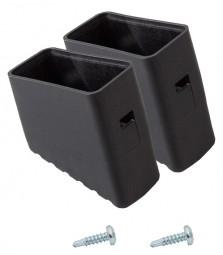 MONTO Fußkappe (Paar) 40x20 mm, schwarz