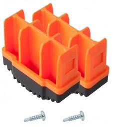MONTO Fußstopfen (Paar) 64x25 mm, orange