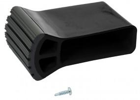 Traversenfußkappe 61,5 x 20 mm, schwarz